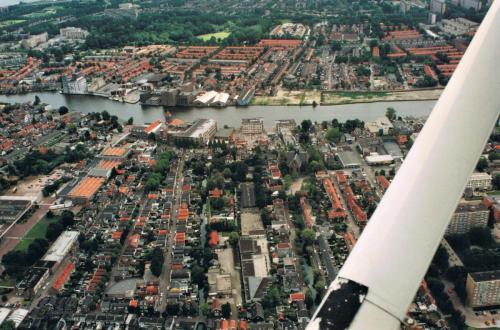 Luchtfoto van Oud-West 1992