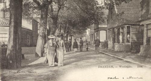 De Westzijde in 1884